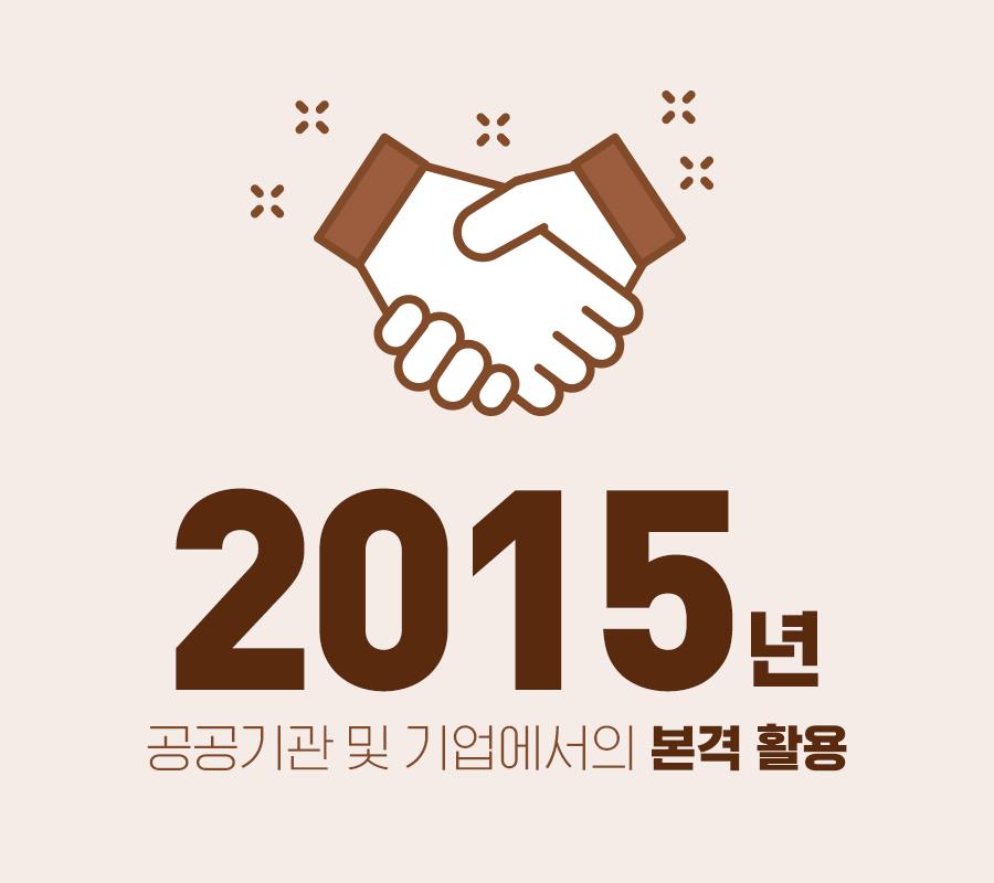 2015년 공공기관 및 기업에서의 본격 활용