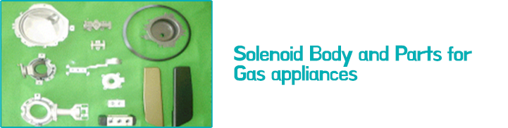 Solenoid Body and Parts for Gas appliances